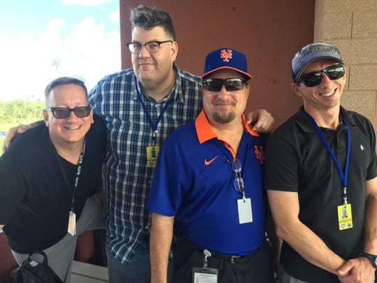 From left, Erick Gill, director; Patrick LeJeune, digital content coordinator; Mike Claus, SLCTV coordinator; and Flynn Fidgeon  media specialist work together to keep St. Lucie County residents informed.