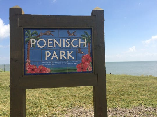 Texas Beach Watch said tests of water collected near Poenisch Park showed high levels of fecal bacteria this week.