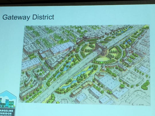 The Evangeline Corridor Initiative Gateway District plan includes an iconic gateway catalyst project at Willow Street.