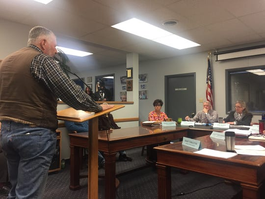 Richard Liebert, one of the applicants for the Zoning Board of Adjustments, speaks to the Cascade County Commission Tuesday, March 13, 2018.
