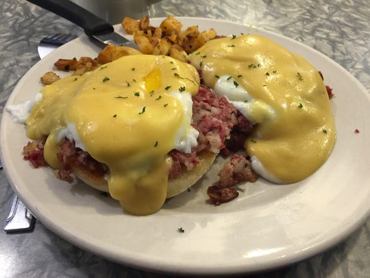 Henry's Diner in Burlington serves an Irish eggs Benedict.