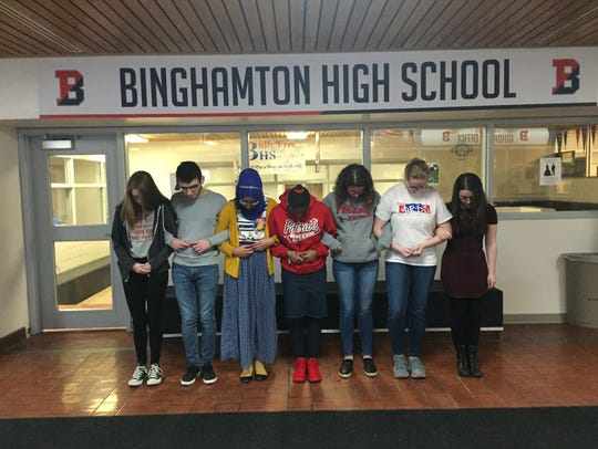 Wednesday's events at Binghamton High School were organized