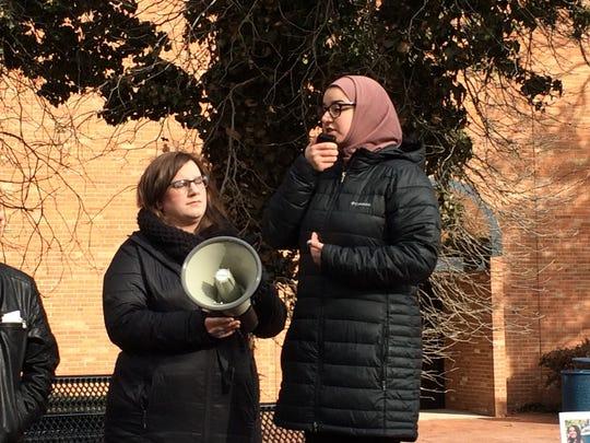 Sara Alqaragholy, a U-M Dearborn student and activist,