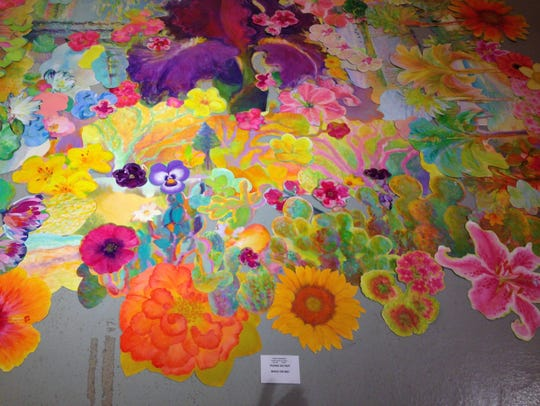 This colorful mat of flowers covered an 11 square feet