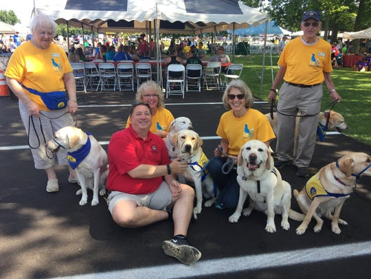 Jeffery Rezabek, shown with the Canine Companions for