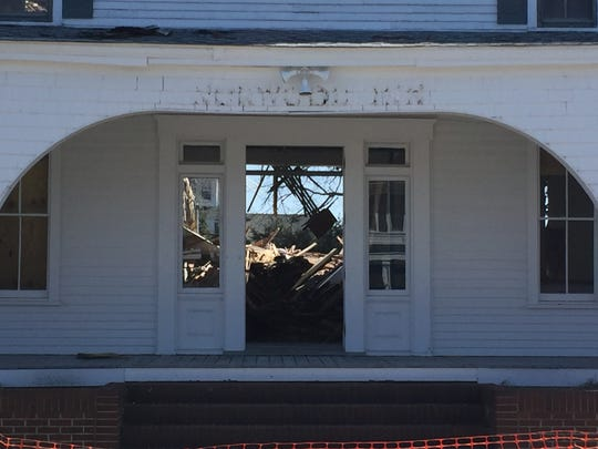 The historic Norwood Inn was demolished on Thursday.