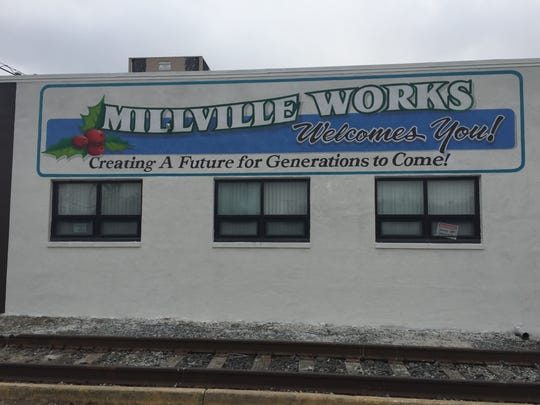 Not quite done, this `thank you' mural adorns a building off Wheaton Avenue near the motor vehicle inspection station in Millville. The mural was conditioned by an investors group who now have an agreement with the city of Millville to redevelop a portion of the former Wheaton Glass Co. property.