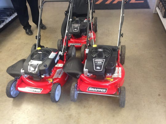 These Snapper push mowers are a popular choice for