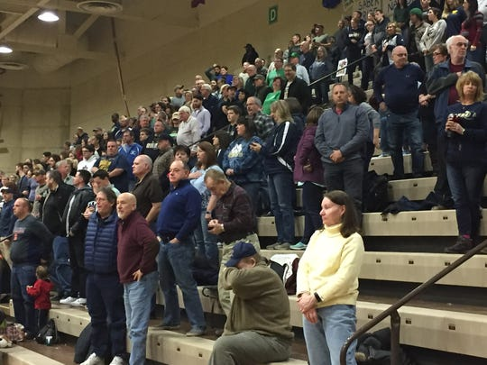 Susquehanna Valley had a big cheering section for Saturday's Class B state final against Irvington at Hudson Valley Community College. The Sabers won, 55-52.