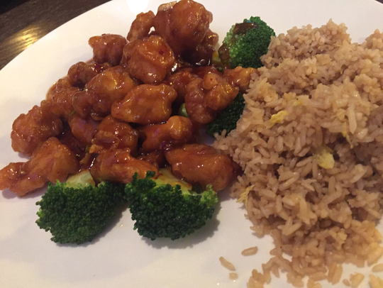 The General Tso's Chicken box from the dinner combo