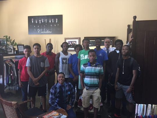 Eleven young men from the Boys & Girls Clubs of St.