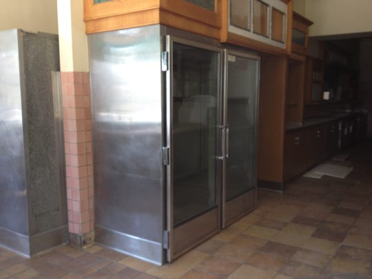 A 2015 photograph of the interior of Marie Callender's in Simi Valley shows kitchen equipment still in place four years after the restaurant's closure. The address has been claimed as the future home of Mad Era Brewing Co., a name inspired by nearby Madera Road.