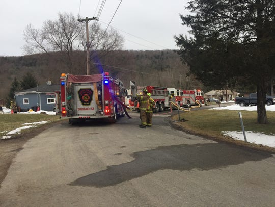 A two-alarm fire brought crews out to the Town of Maine