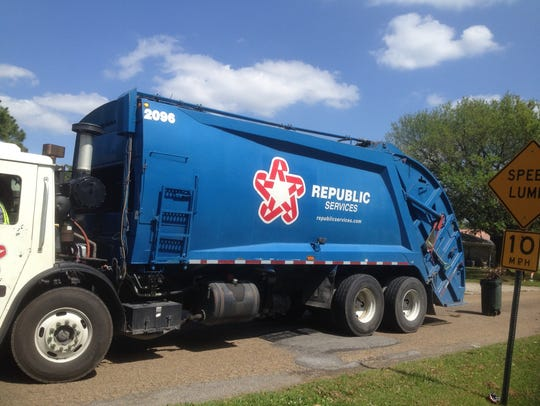 Republic Services has the garbage, yard waste and recycling