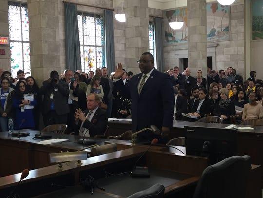Lamont Repollet sworn in at Senate Judiciary Committee