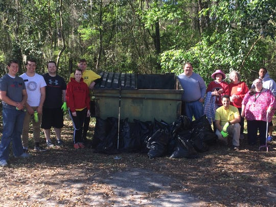 Super Clean Sweet volunteers collected 640 pounds of
