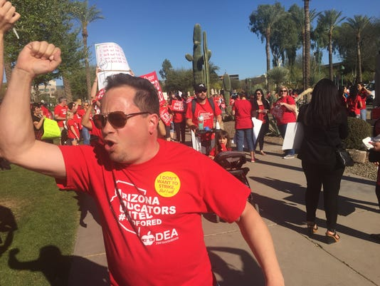 #RedForEd teacher rally