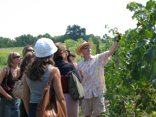 An Experience the Finger Lakes tour at Sheldrake Point Winery in Ovid, Seneca County.