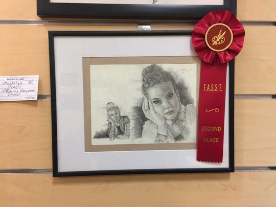 """Madelyn,"" by Phoenix Kacyvenski, took second place in the pencil category for the the Fine Arts Society of the Southern Tier's Young at Art Show and Competition."