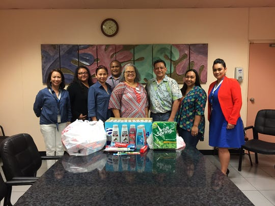 PDN employees raised funds and donated toiletries for