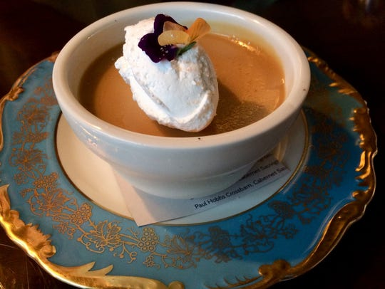 For dessert, try the salted butterscotch pots de creme,
