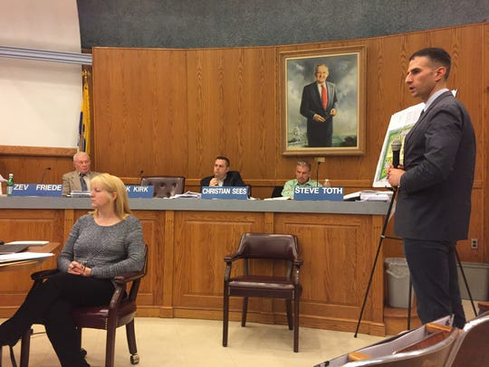 Engineer Charles Olivo testifies on behalf of Brightview Senior Living at a public hearing before the Wayne Zoning Board of Adjustment on Monday.