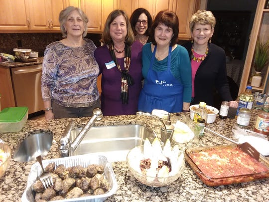 """Dr. Yvette Schlussel'scooking demo, Passover with a Global Consciousness, produced a feast of Passover dishes from around the world for East Brunswick Hadassah's March 6fundraiser. The program reinforced Hadassah's initiative, """"Every Bite Counts."""""""