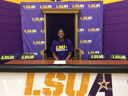 Former Pineville standout Danyale Bayonne signed with LSUA recently.