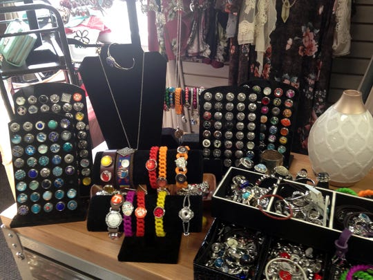 Rings, bracelets, necklaces and other hard-to-find pieces of jewelry are offered at Niche, ranging in price from $8.99 to $38.99.
