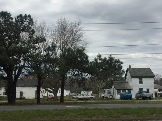 The Gospel Temple Road area south of Melfa, Virginia, seen here on Friday, April 6, 2018, is one of several areas identified by the Accomack-Northampton Planning District Commission as needing housing improvement.