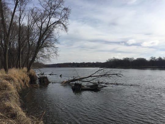 The Cedar River is shown at the Cedar River Crossing