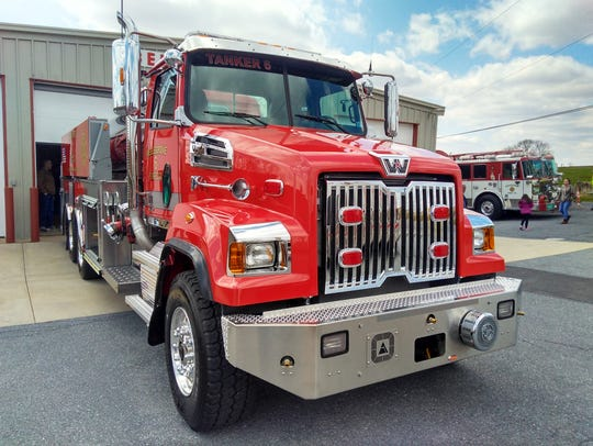 The Bellegrove Fire Company's new tanker truck, pictured