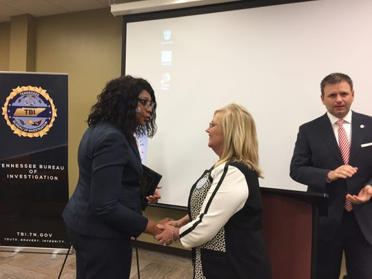 Sheri Murphy, center, was named 2018 Voice For Victims'