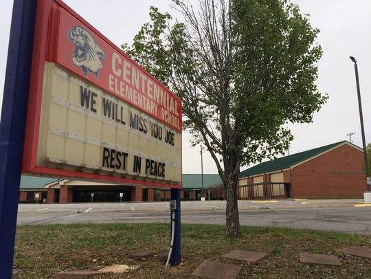 Centennial Elementary School in Dickson remembers Joe