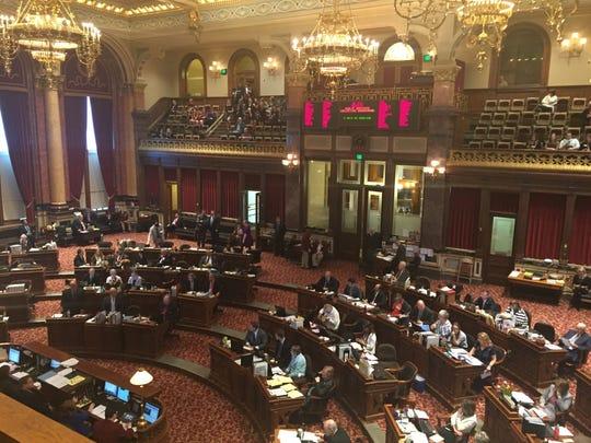 The Iowa Senate chamber