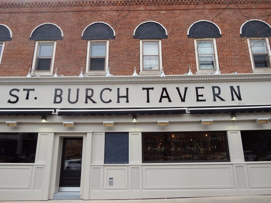 The front of St. Burch Tavern, facing Iowa Avenue,