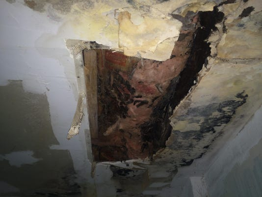 636590662366553135-Ceiling-with-exposed-insulation-and-mold.jpg