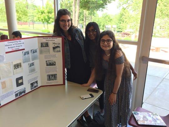 12th graders Brooke Pikiell, Ragini Ravichandren, and