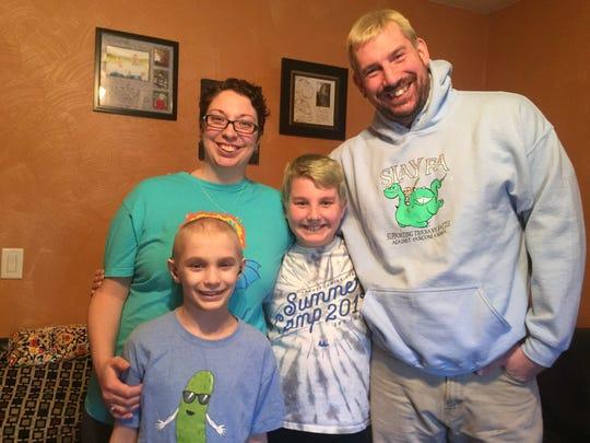 From left: Tiernan Kriner, 9; Libby Kriner, 33; Brennan
