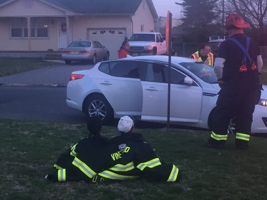 Vineland firefighters tended to those injured and made