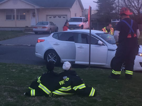 Vineland firefighters tended to those injured and made sure youngsters were kept safe and warm at the scene.