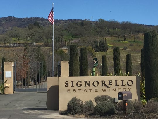 The gates to Signorello Estate Winery stand shut in