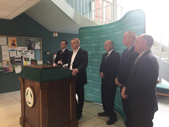 Broome County District Attorney Steve Cornwell speaks