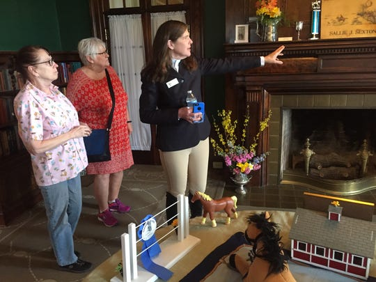 Sallie Sexton Jones, in the person of Anne Lach, was giving tours and sharing mansion facts Saturday at Bryn Du.