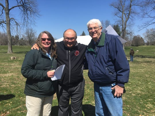 Left to right – Erin Bartlett, Ohio History Connection; John Mazzone, General Manager MCC; Bill Weaver, Ohio History Connection