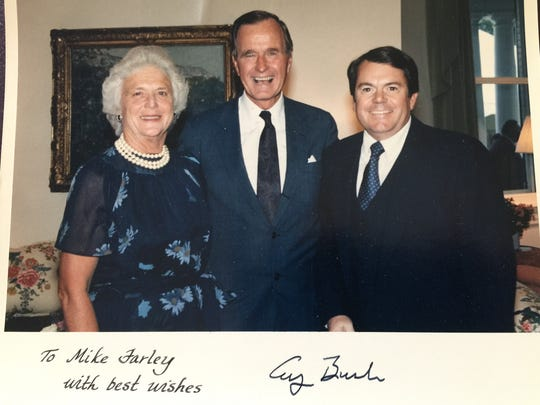 Mike Farley with the George H.W. Bush and Barbara Bush.