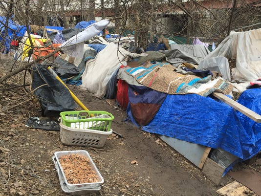 Makeshift homes on South Avenue