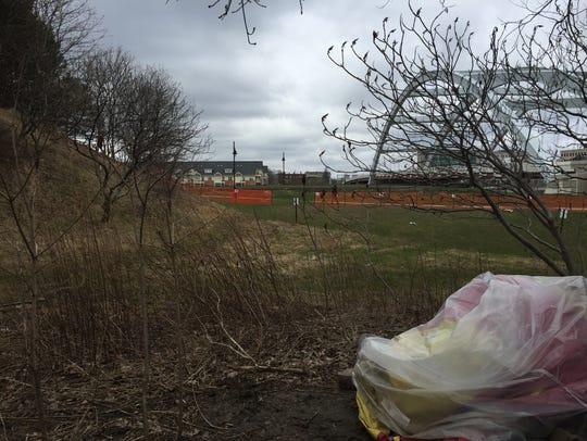 A fence now surrounds part of Spectrum's South Avenue