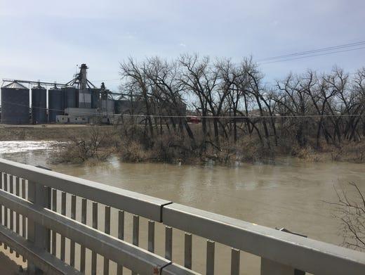 Flooded fields, broken roads. Spring flooding damaging ...