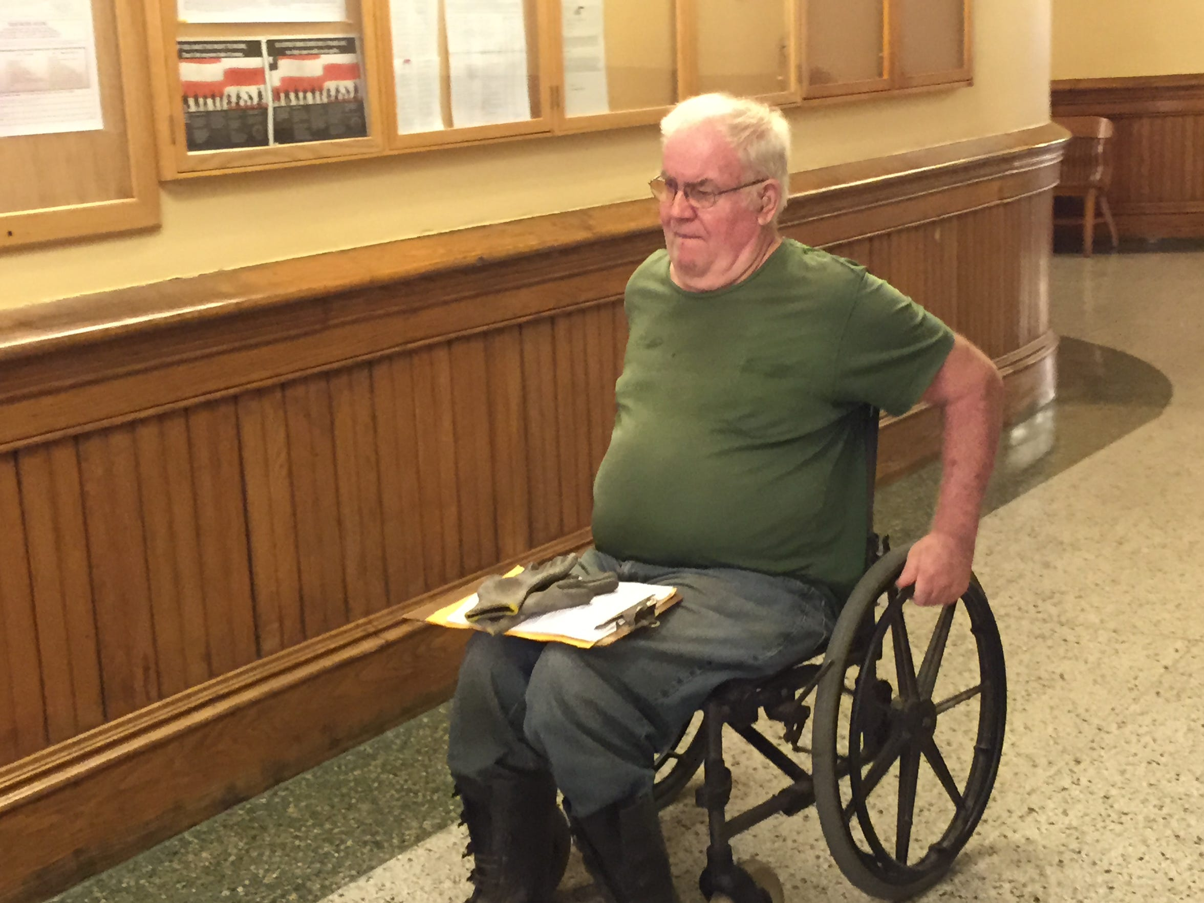 Randy Sanders appeared in July 2015 because he refused to turn over Spud, his prized border collie that he used to sire litters of dogs. Sanders died Jan. 30, 2017, leaving more than $115,000 in unpaid liabilities to the county and the kennel that took care of his abused dogs.